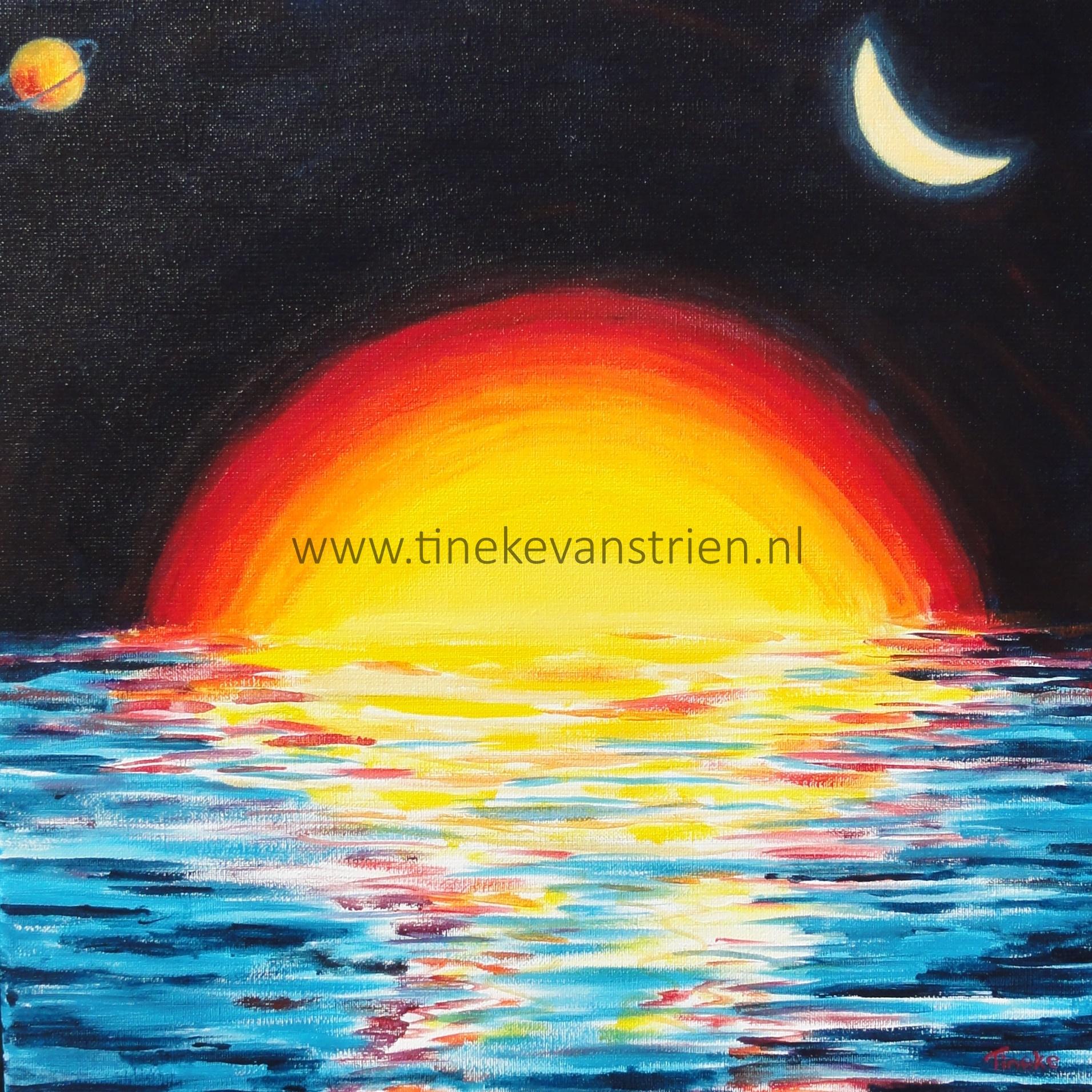 Zon maan en sterren