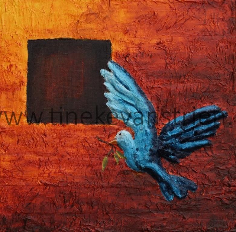 duif met olijftak
