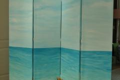 kamerscherm met bootje (1 kant)