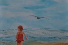Peuter aan het strand